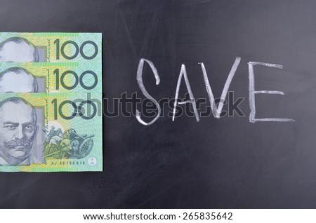 Save Australian Dollars - stock photo