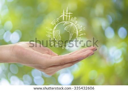Save earth concept - stock photo