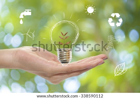 Save earth concept - stock photo