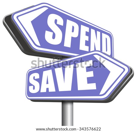 save for later plan ahead saving money in piggy bank savings now and spend later after crisis  - stock photo