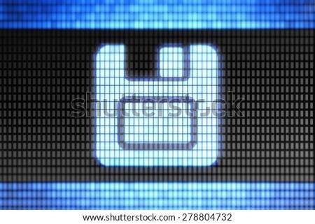 Save icon - stock photo