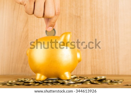 Save money for prepare in the future.  - stock photo