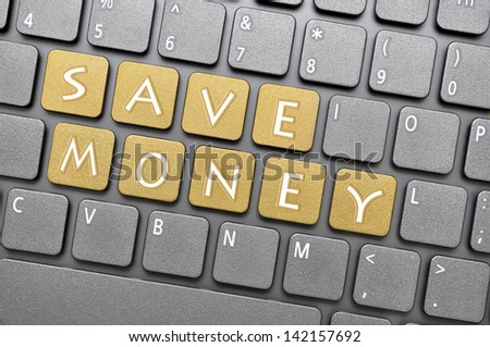 Save money on keyboard - stock photo
