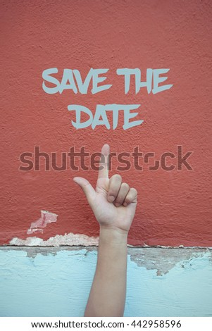 Save The Date . - stock photo