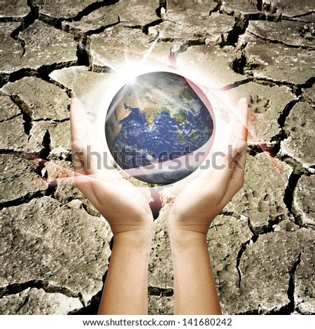 Save the earth - stock photo