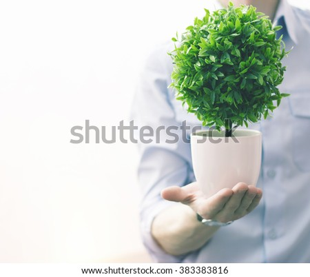 Save the green world for the business. - stock photo