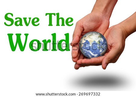 save the world  - stock photo