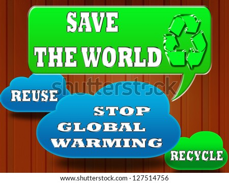 Save The World Circle Sign for Save The World Concept