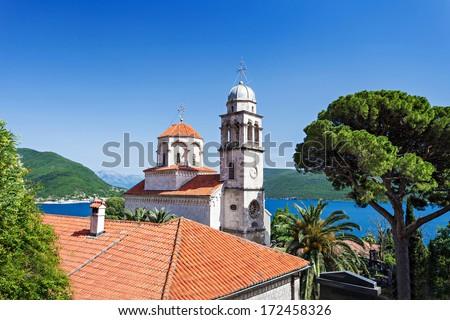 Savina Monastery is a Serb Orthodox monastery, Herceg Novi, Montenegro - stock photo