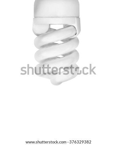 Saving bulb closeup - stock photo