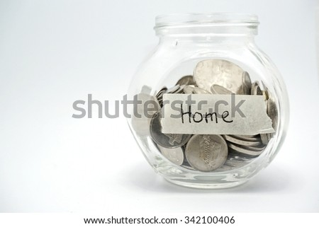 Saving coins fund for home