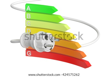 saving energy consumption concept, 3D rendering isolated on white background - stock photo