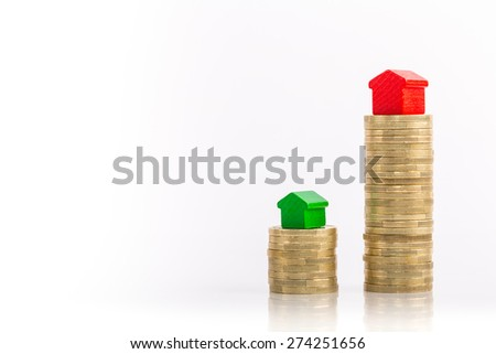 Saving for a house - stock photo