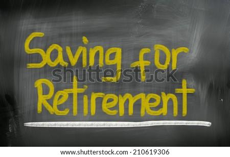 Saving For Retirement Concept - stock photo