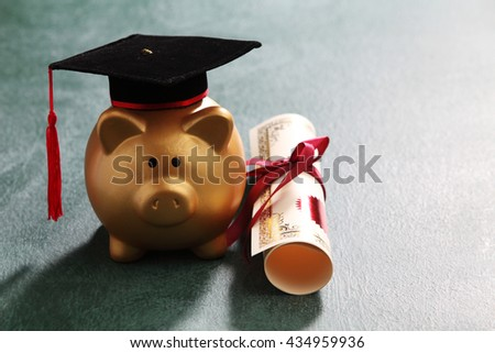 saving for the future education - stock photo