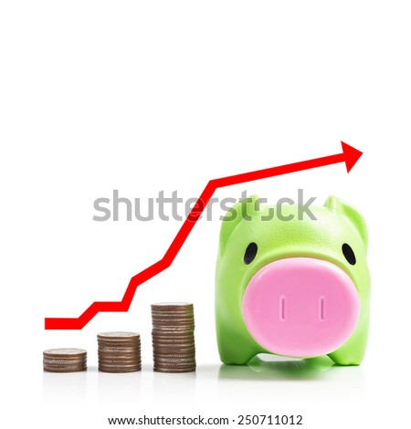 Saving is success - stock photo