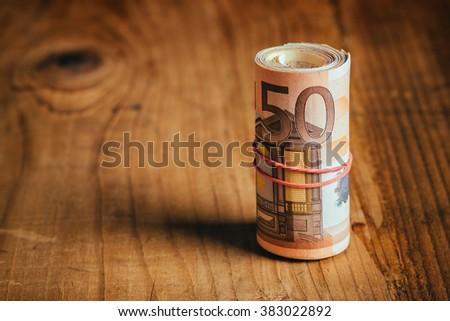 Saving money concept, selective focus - stock photo