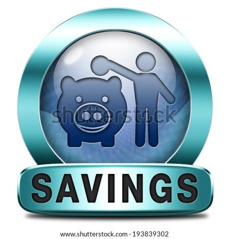 saving money in piggy bank deposit account with savings plan save cash online banking - stock photo