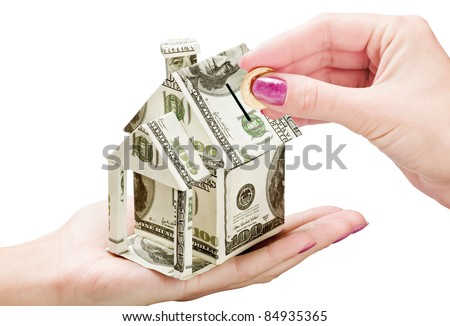 saving money on a new house - stock photo