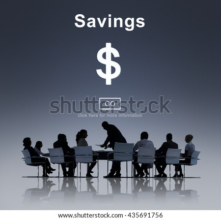Savings Banking Assets Money Budget Economy Concept - stock photo
