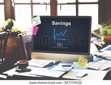 Savings Budget Assets Finance Income Money Concept - stock photo