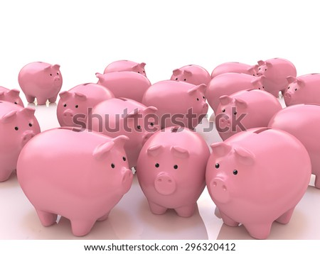 Savings choice and crowd funding financial concept and a finance symbol for choosing the best investment - stock photo