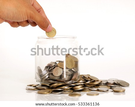 Savings Coins - Investment And Interest Concept