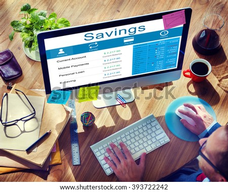 Savings Finance Economy Banking Assets Save Concept - stock photo