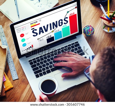Savings Finance Income Profit Money Economic Concept - stock photo