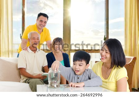 Savings for the future - stock photo