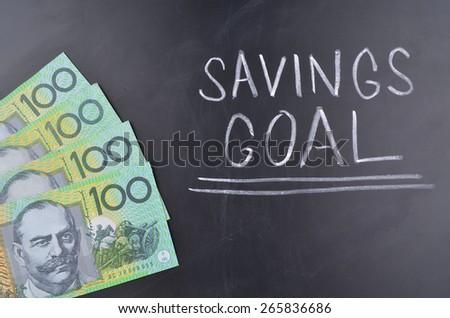 Savings Goal - stock photo
