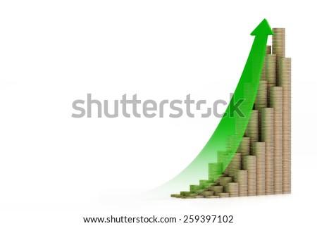 savings green - stock photo