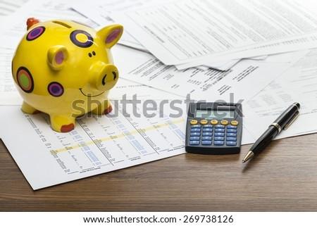 Savings, money, deposit. - stock photo