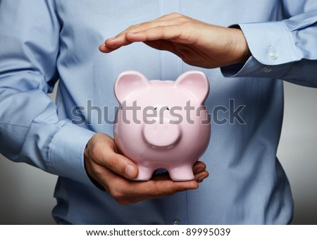 Savings protection - stock photo