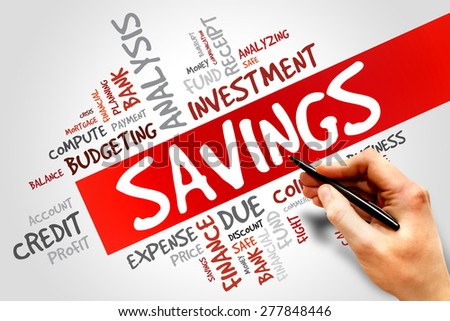 SAVINGS word cloud, business concept