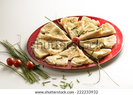 Savory pancakes - stock photo