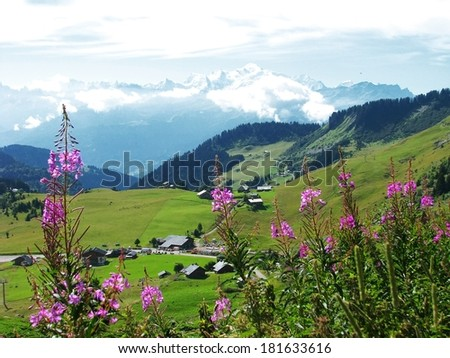 Savoy village french alps landscape