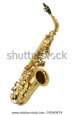 Saxophone alto B - stock photo
