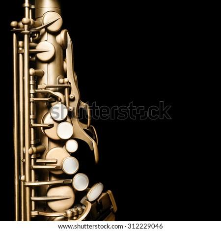 Saxophone Jazz Music Instrument Alto Sax isolated on black - stock photo