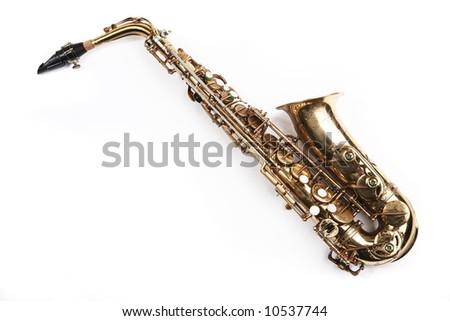 Saxophone. Musical instrument - stock photo