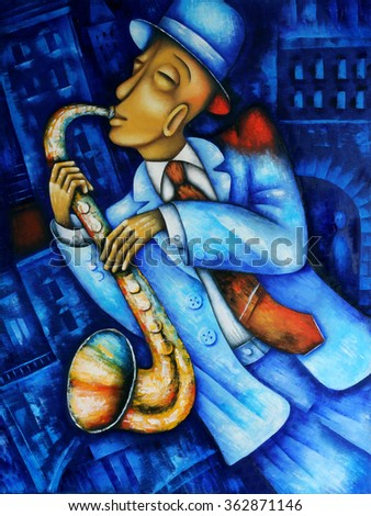 Saxophone Player Saxophonist jazz man