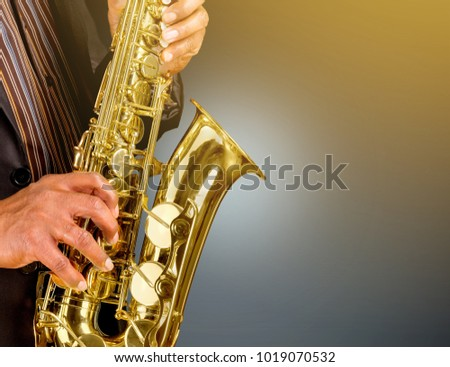Saxophonist playing jazz music