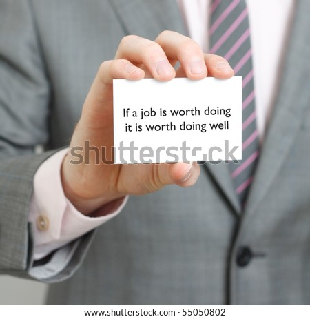 Saying - stock photo