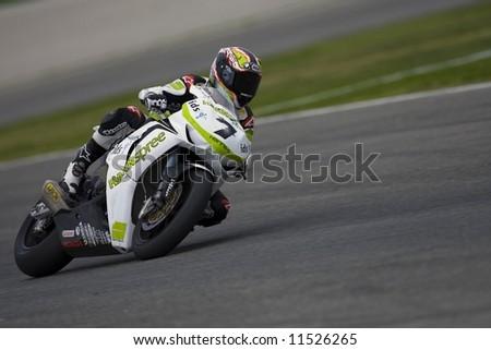 SBK Campeonato del Mundo de Superbikes - Spanish Round - Valencia 2008 en el Circuito Ricardo Tormo de Cheste - Carlos Checa - stock photo