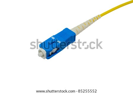 sc connector isolated on white background - stock photo