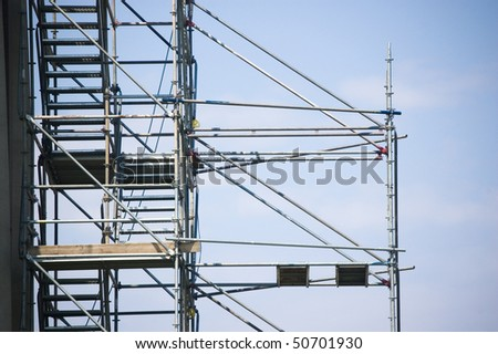 scaffolding,  construction site