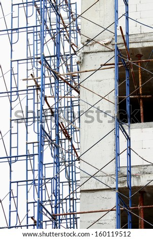 Scaffolding for building - stock photo