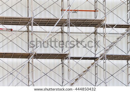 scaffolding for construct a building under construction. - stock photo
