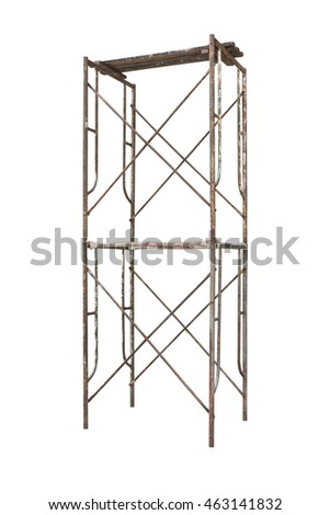 Scaffolding Isolated On White