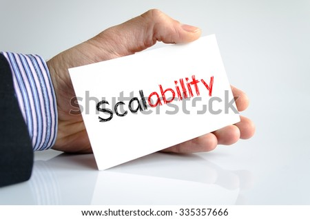Scalability text concept isolated over white background